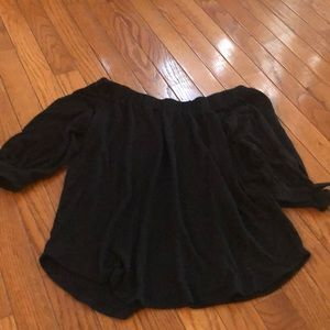 Abercrombie Off the shoulder black blouse